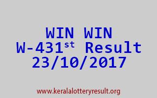 WIN WIN Lottery W 431 Results 23-10-2017