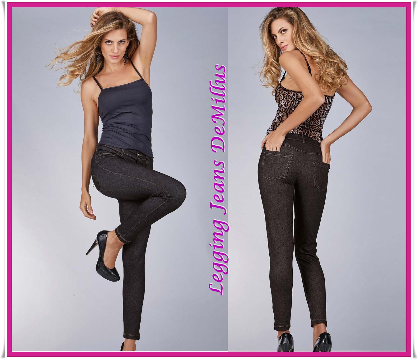 6be772e6c Legging Jeans DeMillus versatilidade e conforto na composição de looks