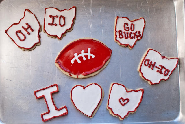 Ohio State Cut Out Cookies | Neighborfoodblog.com