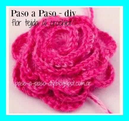 Cómo hacer una Flor tejida al Crochet