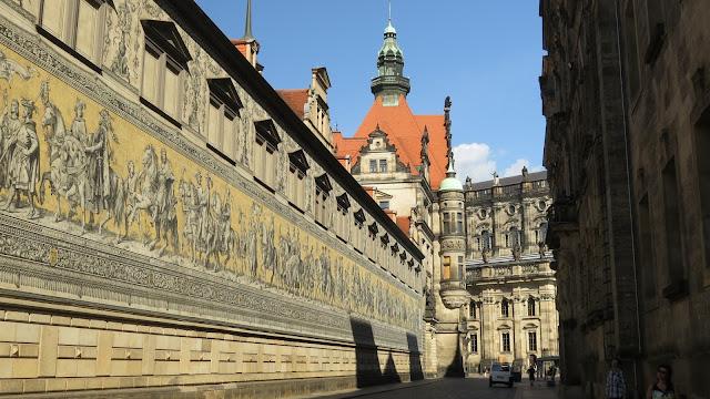 Tegeltableau Saskische heersers in Dresden