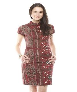 model baju batik dress pendek untuk remaja