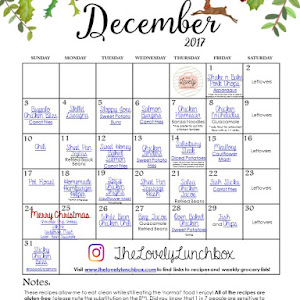 November Meal Calendar - The Lovely Lunchbox