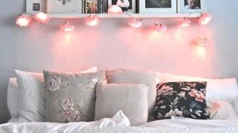 Ideas para decorar tu cuarto con luces aprende a decorar for Cuarto tumblr con luces