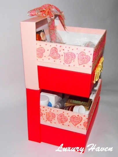 diy bellabox multi-tier make-up storage box