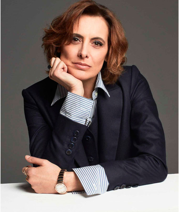 arts cross stitch fashion model ines de la fressange harper 39 s bazaar chile june 2016. Black Bedroom Furniture Sets. Home Design Ideas