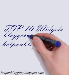Top 10 widgets created with html for Blogger blog