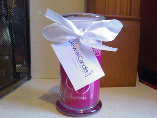 Jewel Candle Pink Cherry
