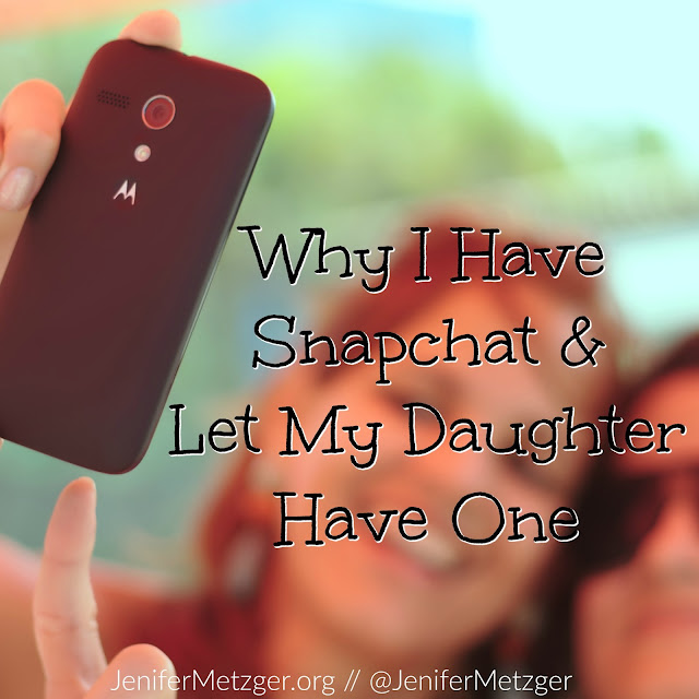 Why I have a snapchat and let my daughter have one. #snapchat #socialmedia #parenting #motherhood #family