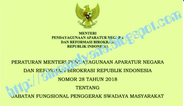 Tentang Jabatan Fungsional Penggerak Swadaya Masyarakat PERMENPAN RB NOMOR 28 TAHUN 2018 TENTANG JABATAN FUNGSIONAL PENGGERAK SWADAYA MASYARAKAT