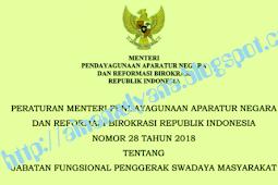 Permenpan RB No 28 [Tahun] 2018 (Tentang) Jabatan Fungsional PENGGERAK SWADAYA MASYARAKAT