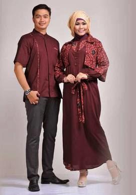 Contoh desain baju muslim couple untuk orang bertubuh besar