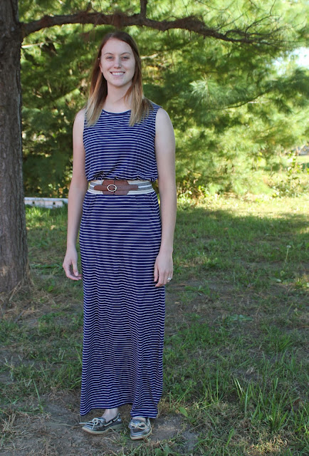 Sewing for my daughter a maxi dress using Butterick 6330