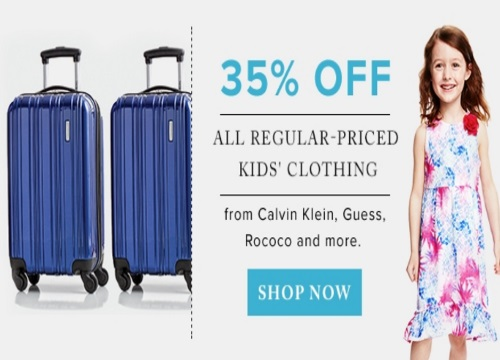 Hudson's Bay $320 Off Samsonite Luggage & 35% Off Kids Clothing