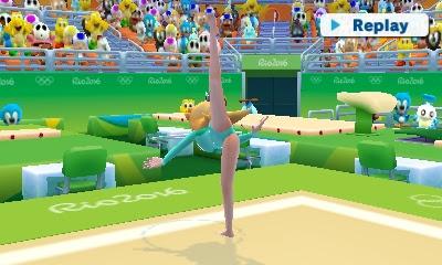 Rosalina leotard Rhythmic Gymnastics Mario Sonic Rio 2016 Olympic Games 3DS legs
