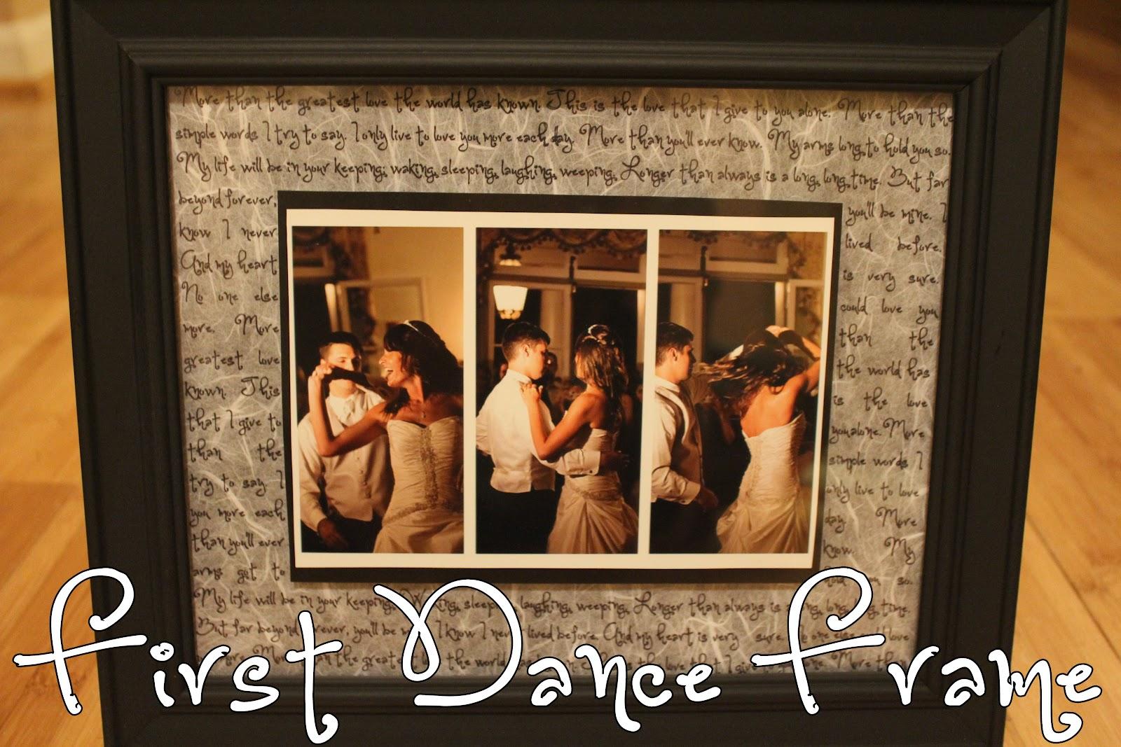 Homevolution Diy First Dance Frame