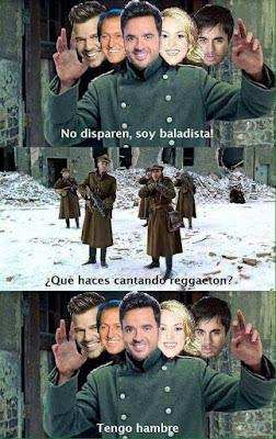 Meme de humor : Cantantes de balada que cantan reggaeton