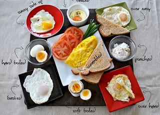 Types of eggs from various cooking methods