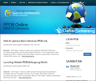Download Aplikasi Penerimaan Siswa Baru (PSB) Online Berbasis Web Berita