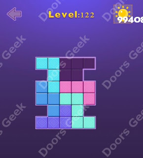 Cheats, Solutions, Walkthrough for Move Blocks Easy Level 122