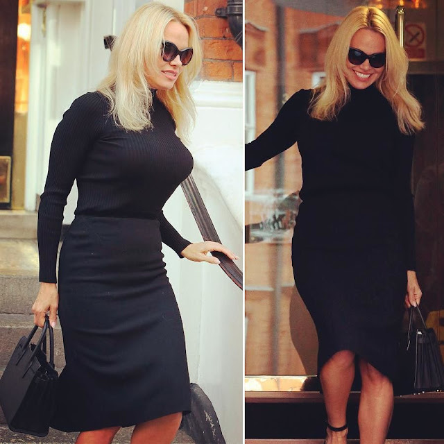 Pamela Anderson - Leaves Ecuador Embassy in London After Visiting Julian Assange