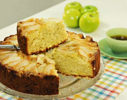 Torta de manzanas verdes