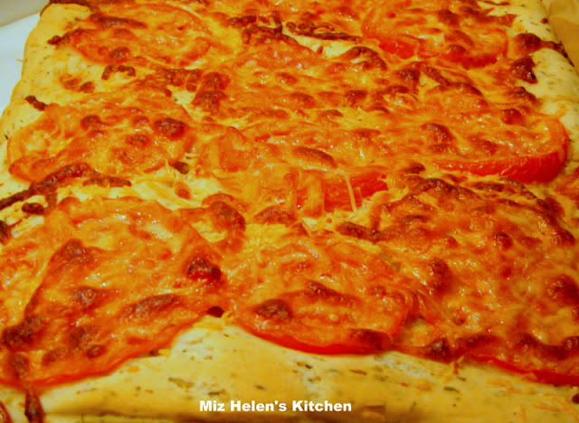 Tomato Herb Focaccia at Miz Helen's Country Cottage