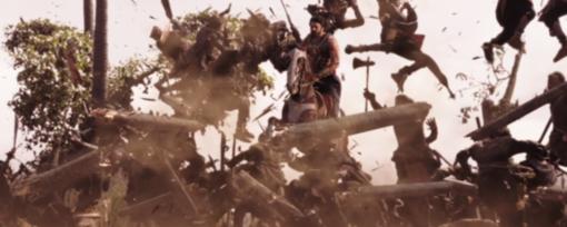 Baahubali Prabhas war scenes