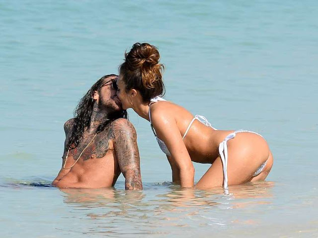 Megan McKenna in Bikini on a beach in Dubai