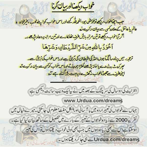 Dream Meaning In Urdu