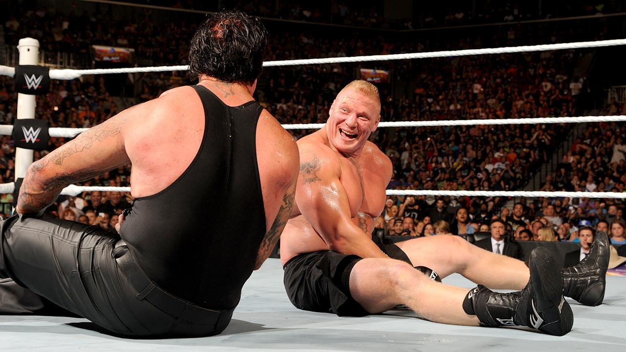 WWE Trivia Pose Lucu Underaker Dan Brock Lesnar WWE Indonesia