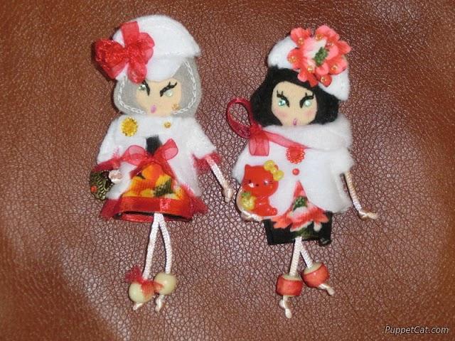 Кукла-брошь из фетра