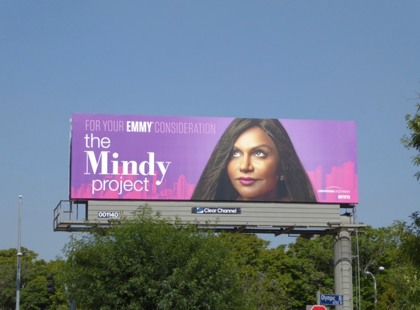 Mindy Project 2016 Emmy consideration billboard