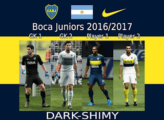 Kits Boca Juniors 2016 - 2017 Pes 2013 By Dark-Shimy