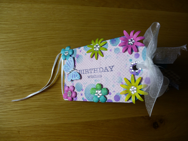 Cover of birthday book using Woodware products