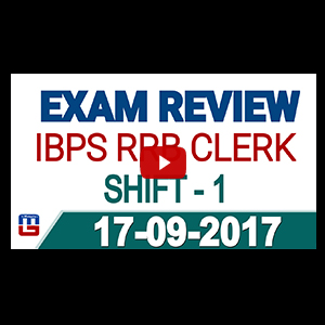 Exam Review With Cut Off | IBPS RRB CLERK 2017 | 17 September-Ist Shift