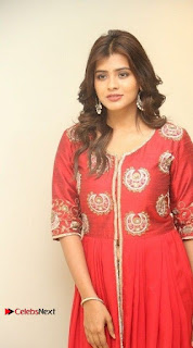 Actress Heba Patel Latest Stills in Red Dress at Mister Movie Trailer Launch Event  0027.jpg