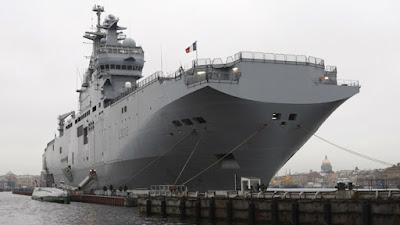 rusi kapal induk helikopter Prancis kelas Mistral,