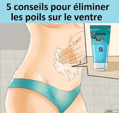 5 conseils pour éliminer les poils sur le ventre