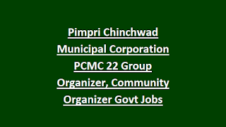 Pimpri Chinchwad Municipal Corporation PCMC 22 Group Organizer, Community Organizer Govt Jobs Recruitment