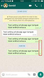 Cara Setting Whatsaap agar tidak terlihat centang biru / terbaca