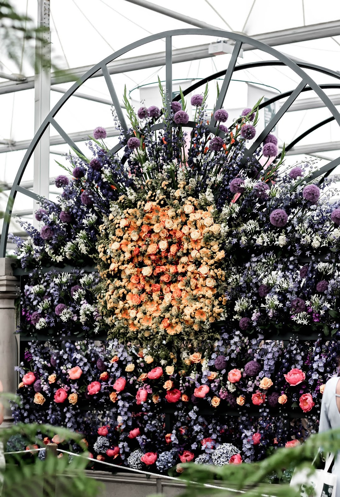 M&S Flower Wall at Chelsea Flower Show 2018