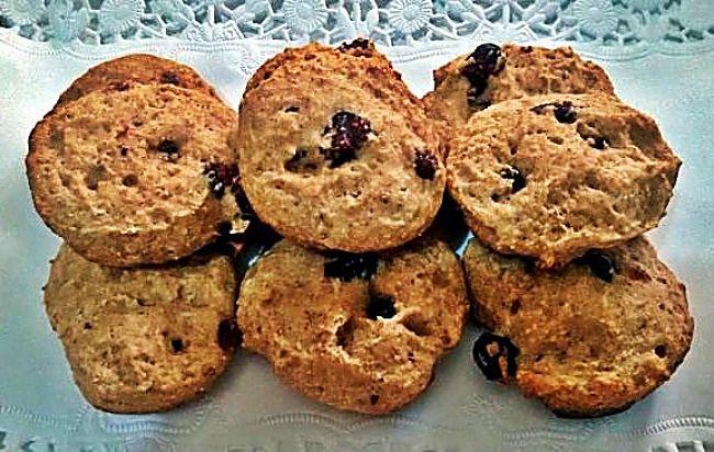 Bizco-galletas integrales de yogur y arándanos