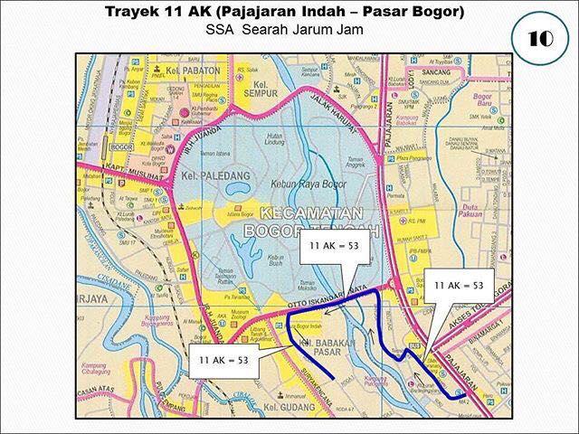 Rute Angkot Pajajaran Indah-Pasar Bogor