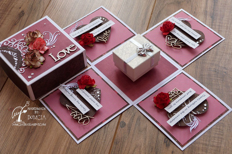 Scrap And Craft Valentine S Day Exploding Box