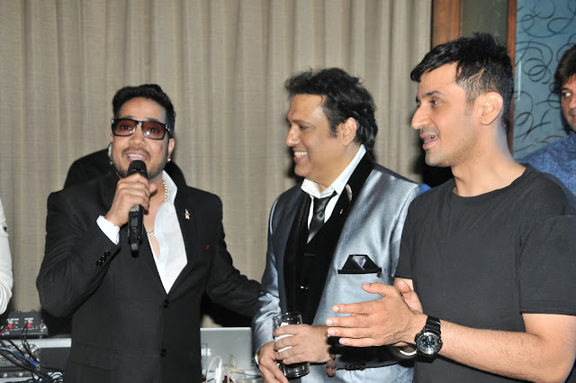 9. Mika Singh with Govinda and Meet Bros