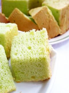 resepi kek chiffon pandan lembut dan sedap