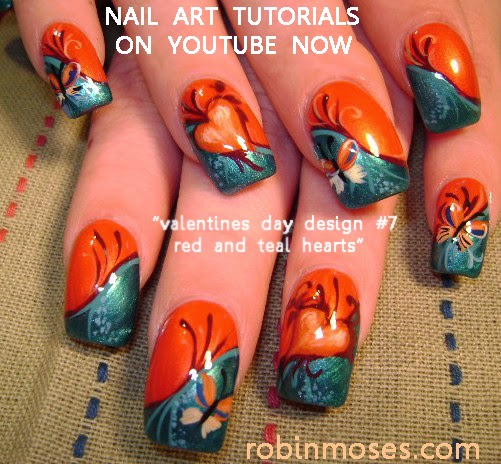"Nail Art Designs Tutorial Youtube: Robin Moses Nail Art: ""Valentine's Day Nail Art"" A GALLERY"