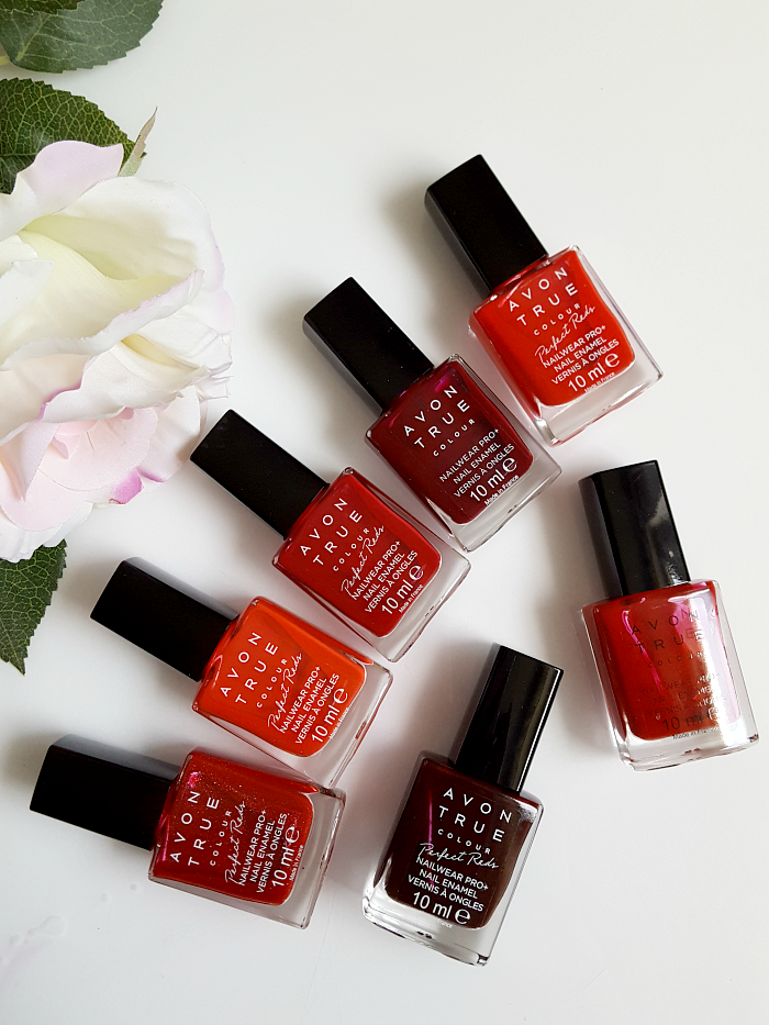 Review & Swatches: AVON True Colour Perfect Reds Collection - Nailpolishes