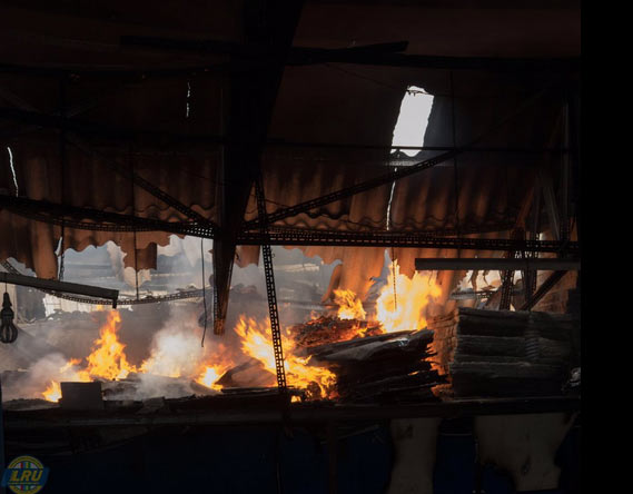 Firefighters stop fire from causing serious damage in Ikeja, Lagos